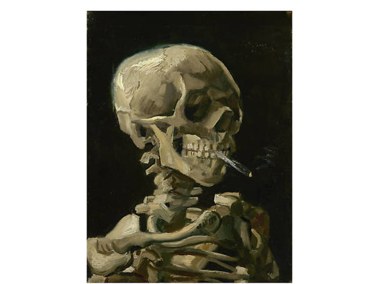 Vincent van Gogh, Head of a Skeleton with a Burning Cigarette, 1886