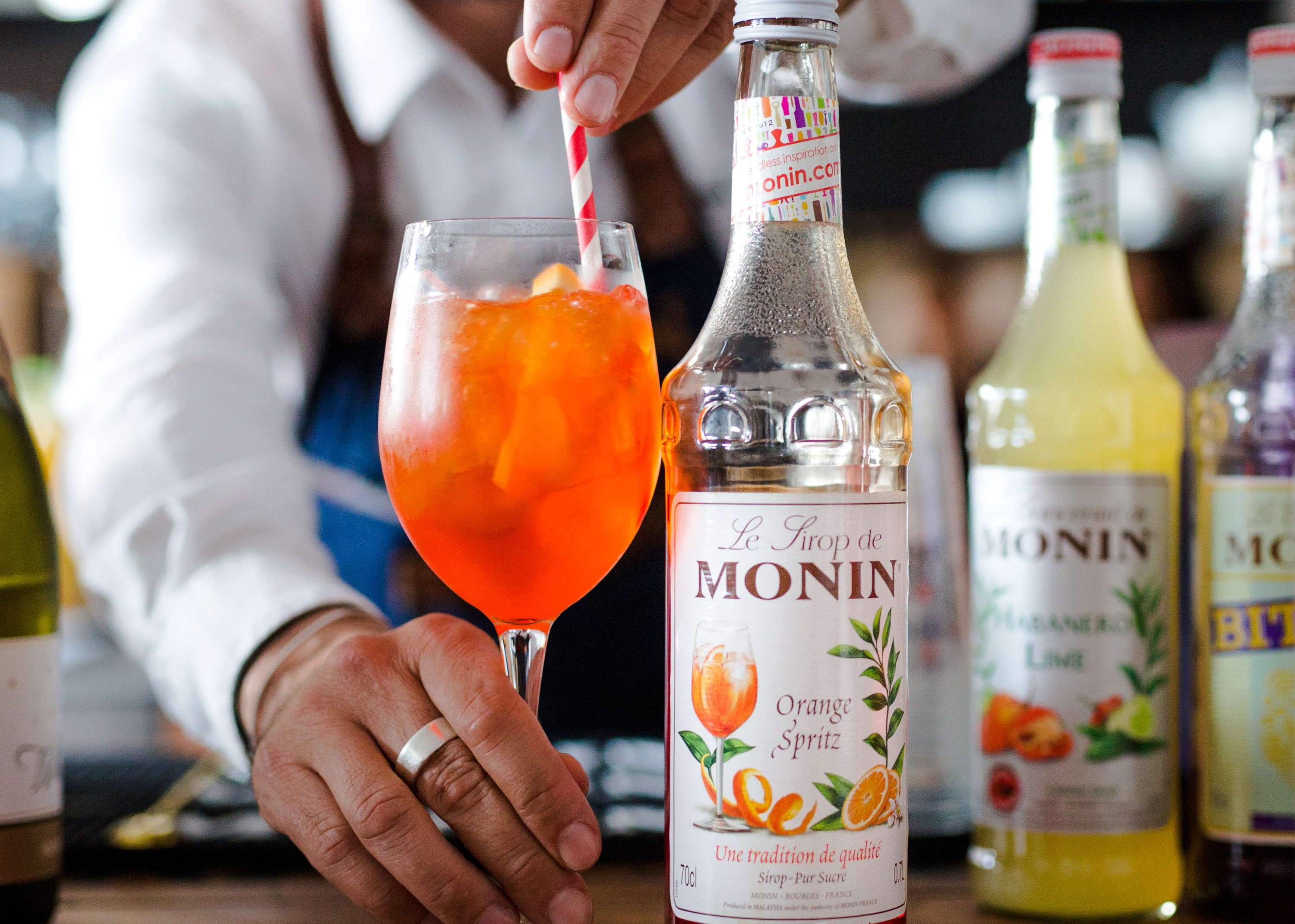 Swap your cocktail for a MONIN Spritz mocktail this Dry July