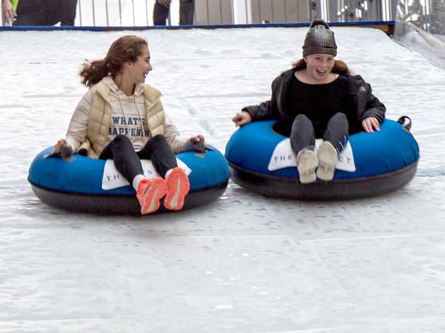 Slide at The District Docklands Ice Slide