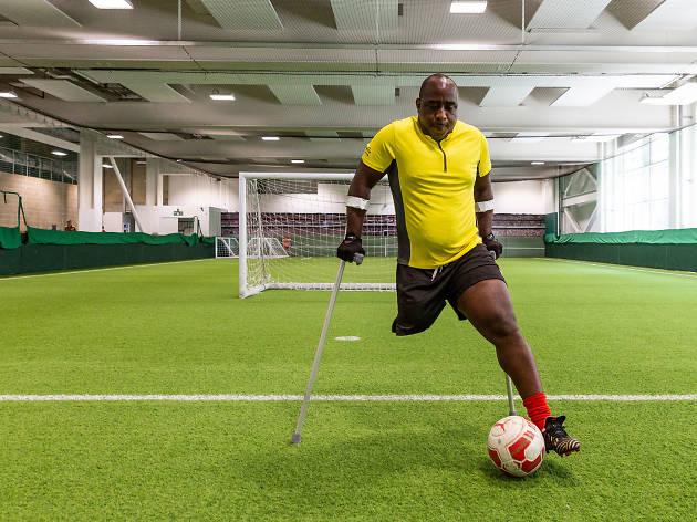 Michael Ishiguzo, amputee footballer