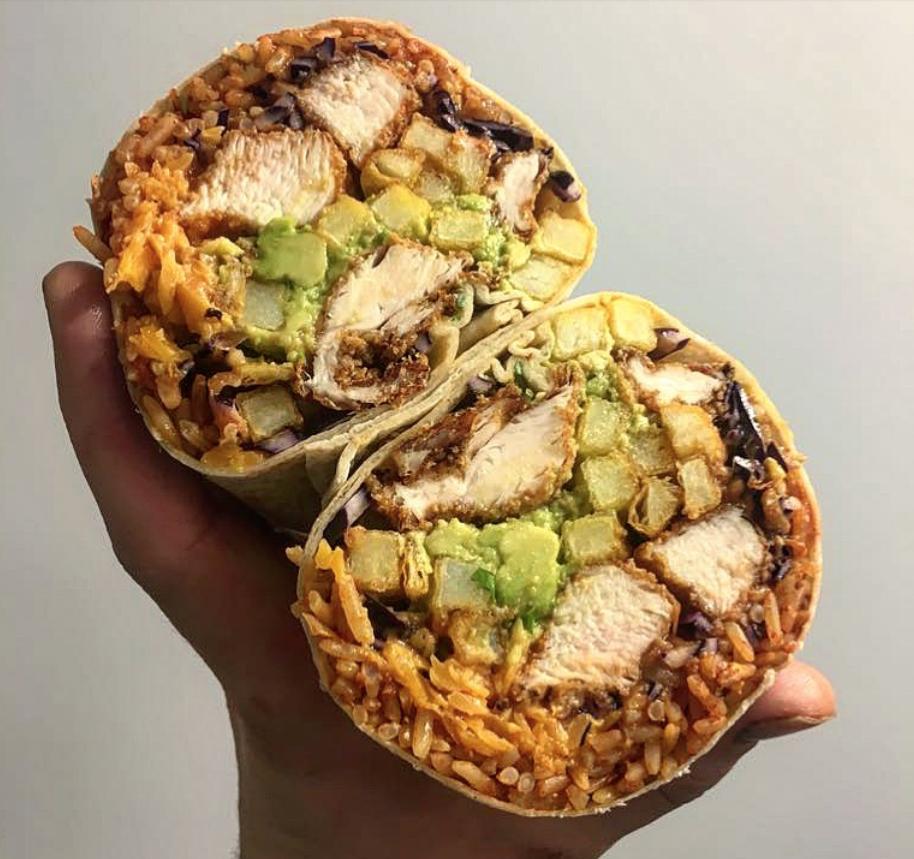 Jive Kitchen burrito, Norwich