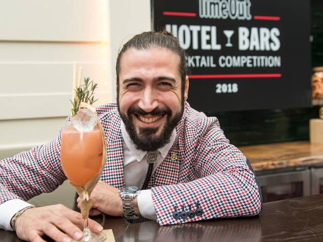 Person making cocktails at the Time Out Hotel Bars competition