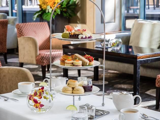 Food and drink at Shangri La Hotel High tea