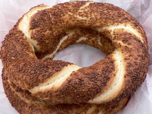 koulouri greek pastry at Greek Bakery