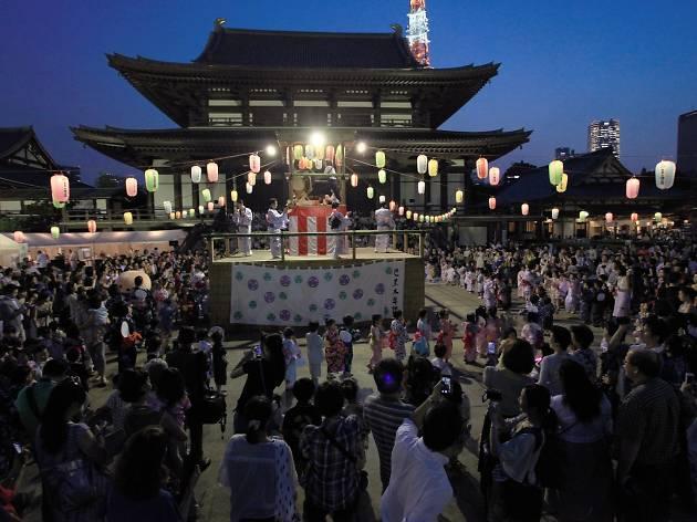 増上寺 地蔵尊奉賛 盆踊り大会