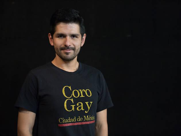 Horacio Mendoza, director del coro gay ciudad de méxico