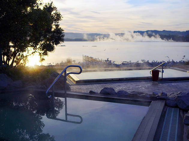 Polynesian Spa.  Thermal hot springs and health spa. Rotorua, New Zealand