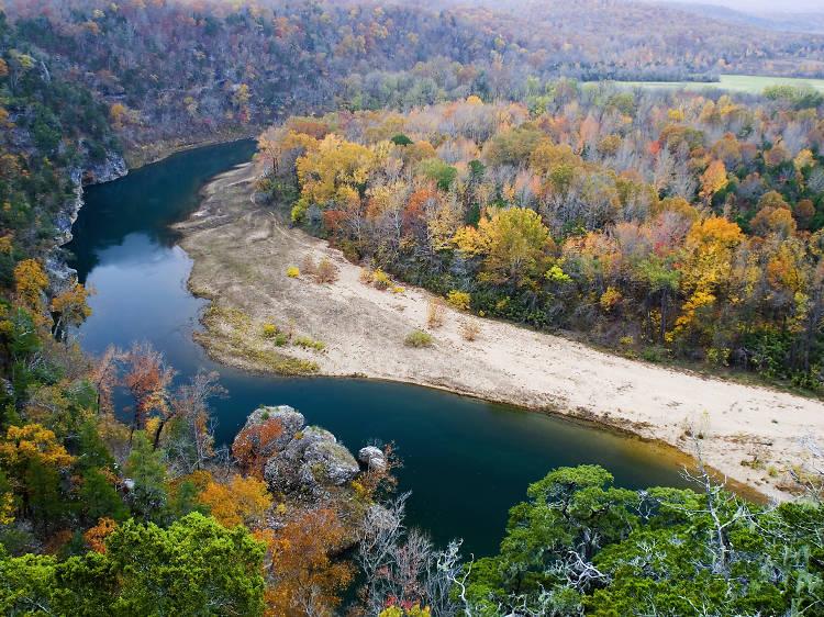 Arkansas: Snap limestone bluffs along Buffalo National River