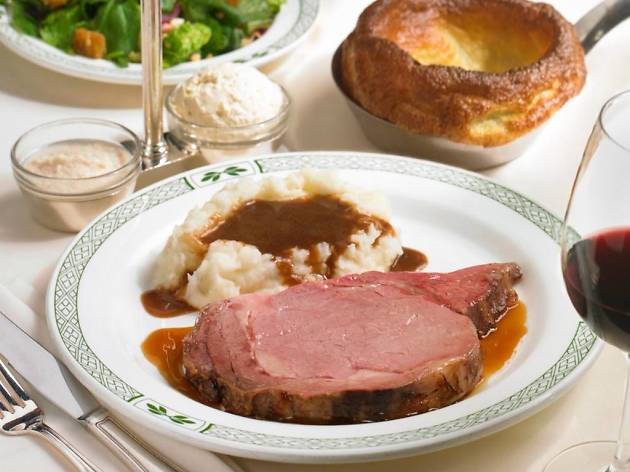 Classic prime rib dinner at Lawry's