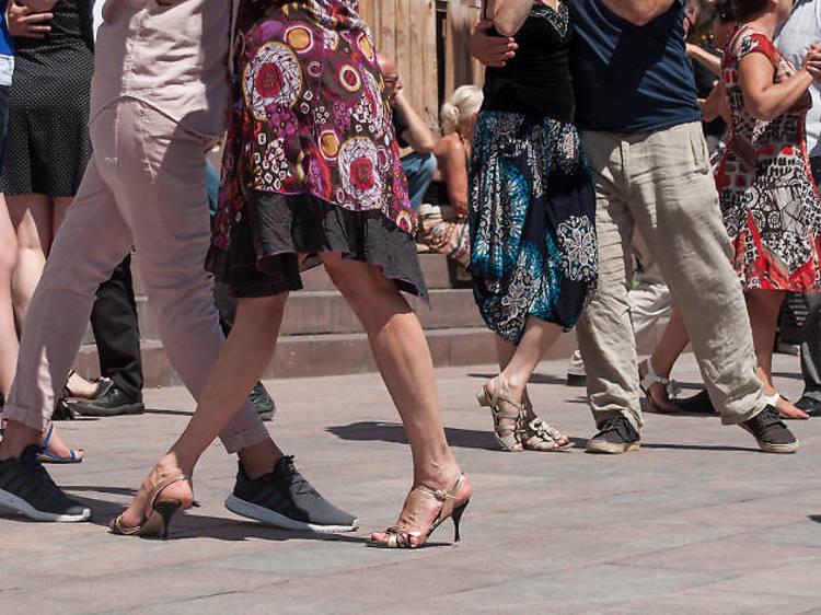 Tango at a milonga