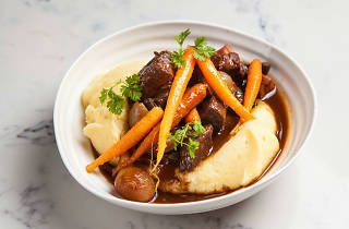 Beef bourgignon at Madame Rouge