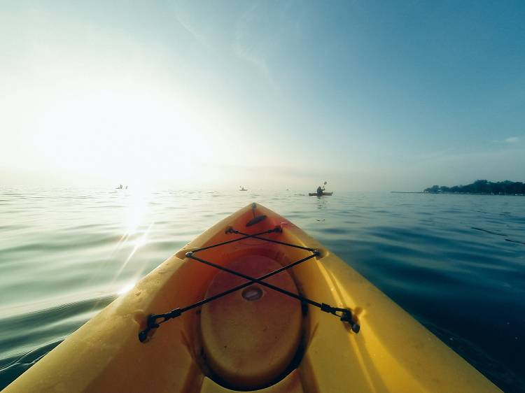 Sea kayaking off Brela