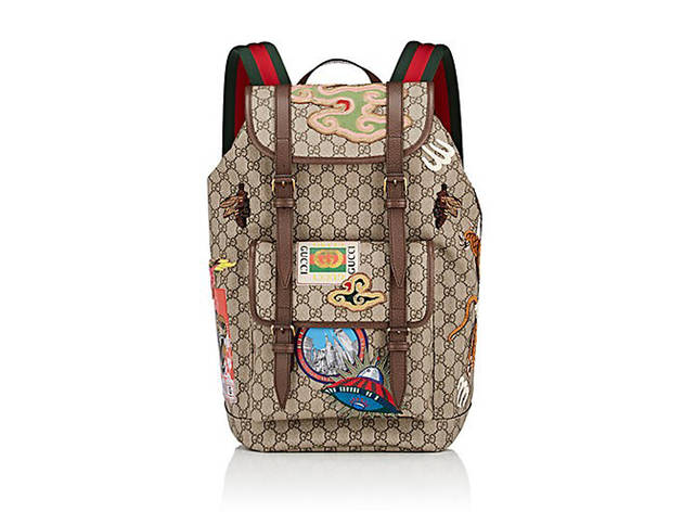 GUCCI GG Supreme Appliquéd Backpack