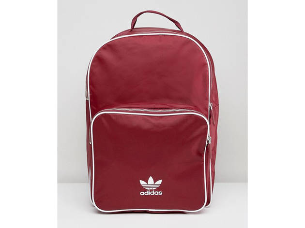 adidas Originals adicolor Backpack In Burgundy
