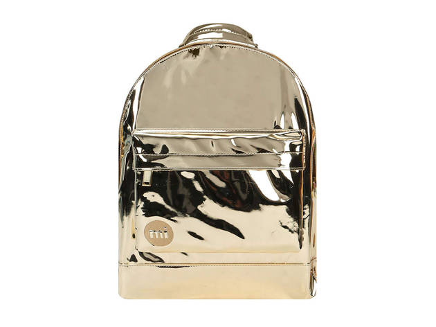 Mi-Pac Mini Mirror Backpack In Gold