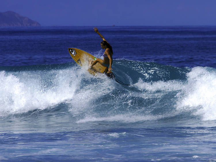 Surfing in Rincón