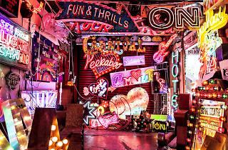God's own junkyard, neon sign workshop