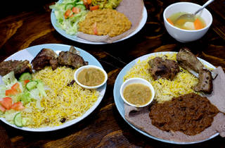 Plates of food at Salam Cafe Auburn
