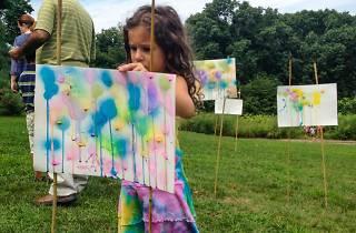 Family Art Project: Spray a Garden