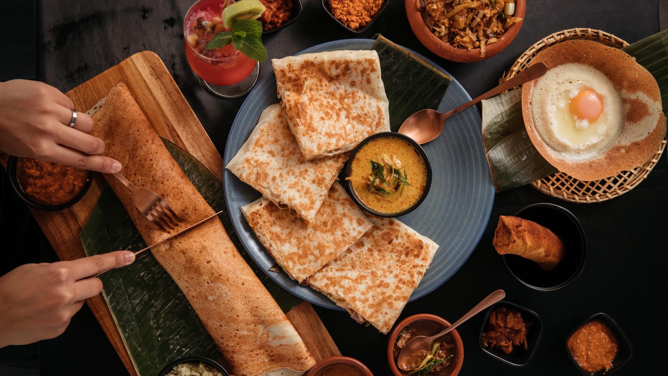 Table of food at Dish Sri Lankan Street Food