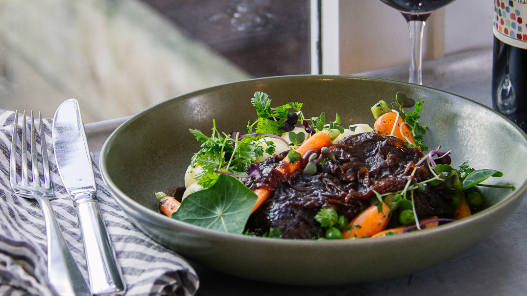 Beef cheek at Plough Hotel