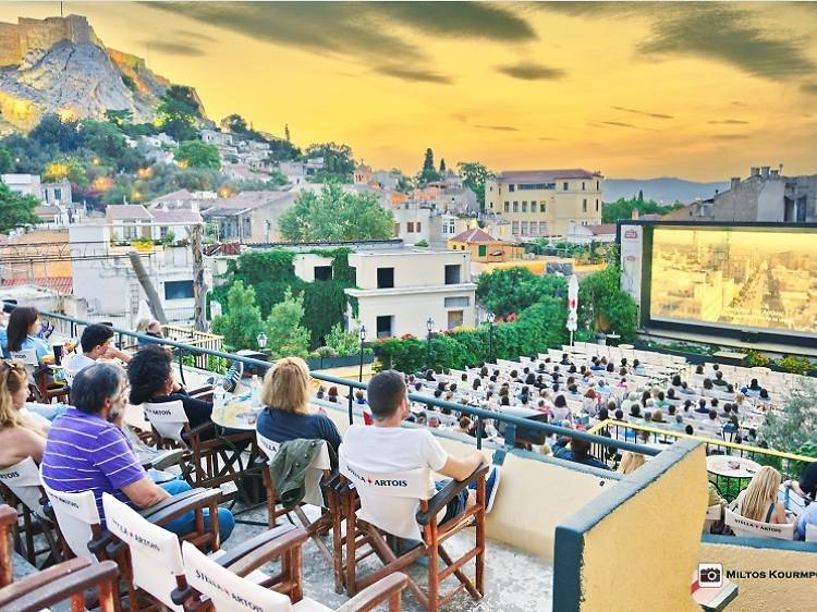 Watch films in the shadow of the Acropolis in Athens