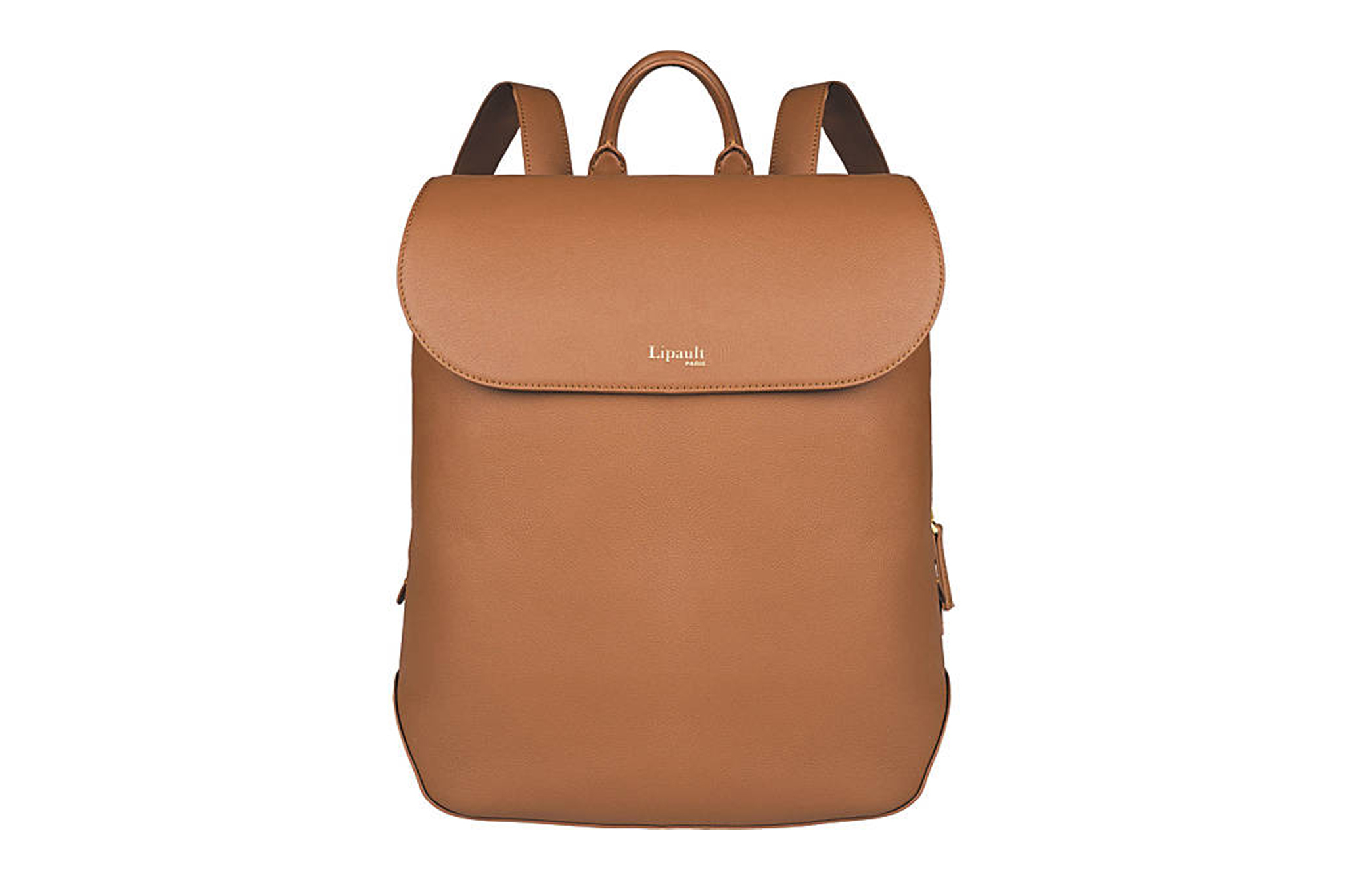 Lipault Paris Plume Elegance Medium Leather Laptop Backpack