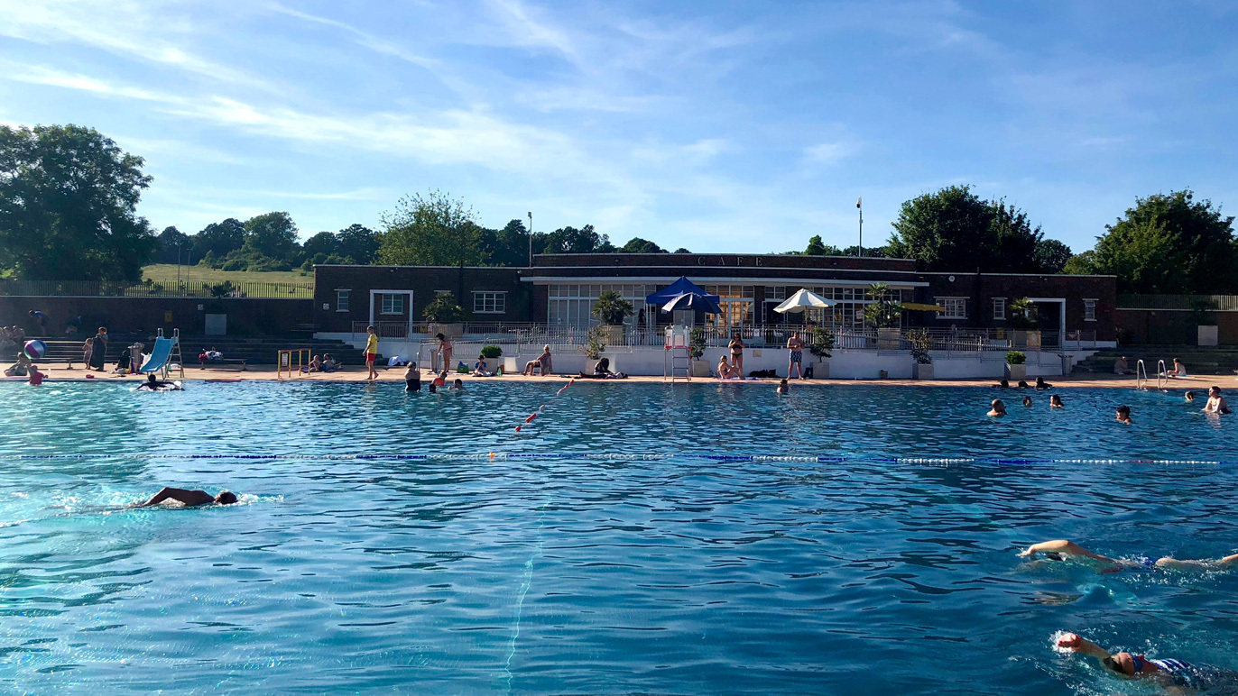London fields lido HERO