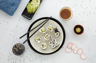Workshop de sushi vegetariano
