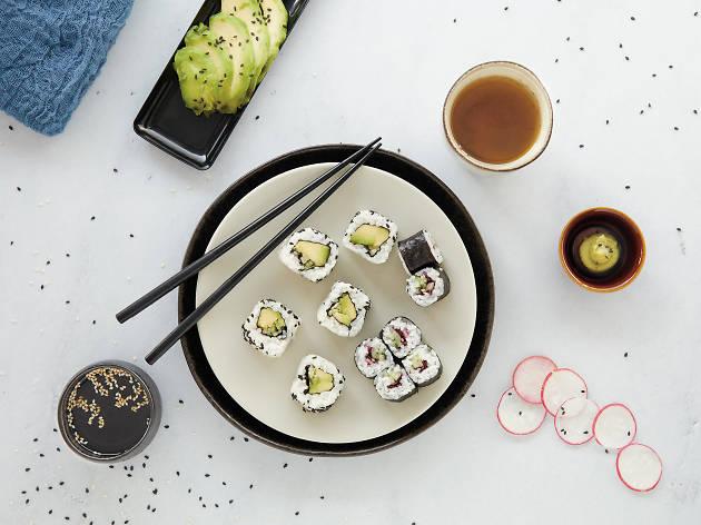 Workshop de sushi vegetariano