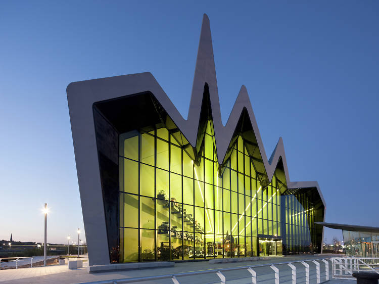 See historic forms of transport in a very modern building at The Riverside Museum