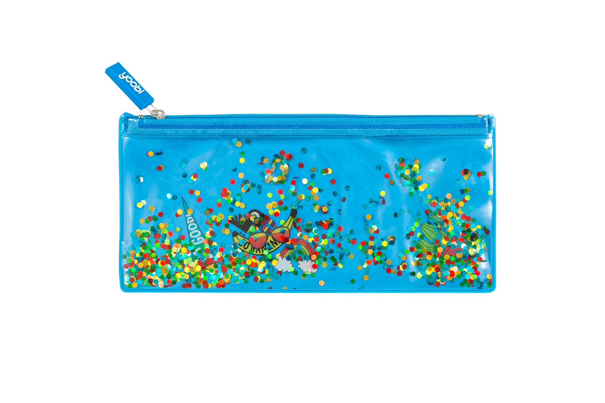 Yoobi Glitter Zip Pencil Case
