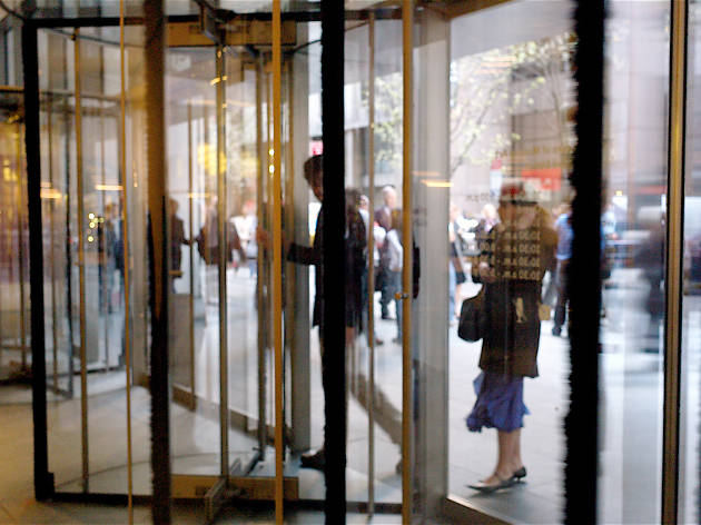 We've had it with people who pair up in revolving doors