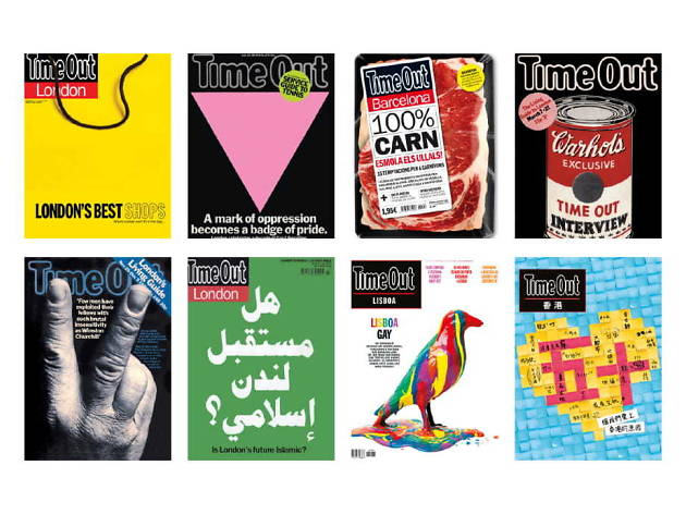 Time Out 50 covers exhibition Museum of Brands