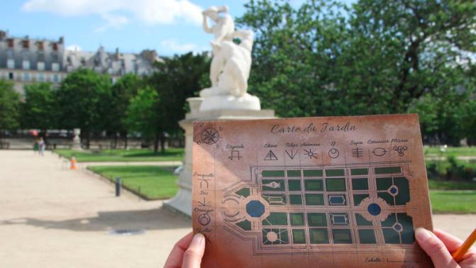 Un adventure game géant aux Tuileries, gratuit !