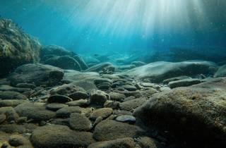 Under water ocean floor