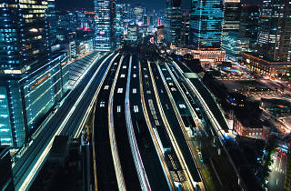 Tokyo Station - night-view, top-view