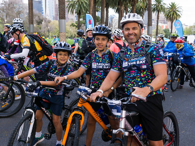 Round the Bay photo shoot for Bicycle Network on October 10, 2017 in Melbourne, Australia. (Photo by Greg Ford/AFL Media)