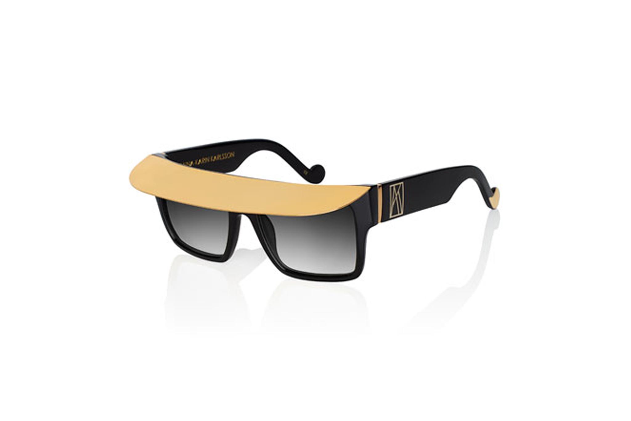 Anna-Karin KarlssonShady Metal-Brow Square Sunglasses