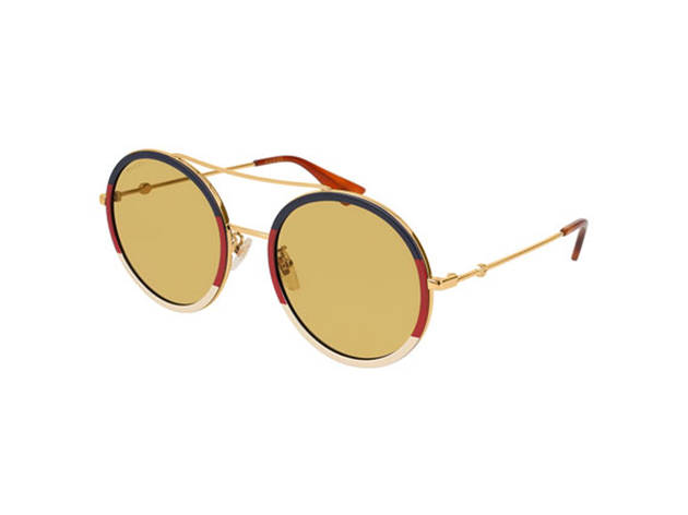 Gucci Round Sylvie Web Sunglasses