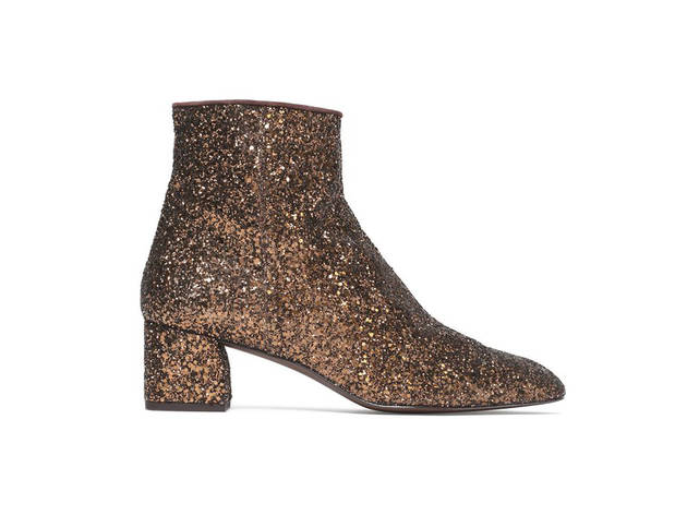 Castaner glittered leather ankle boots