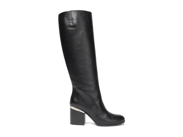 Hogan Embellished leather knee boots