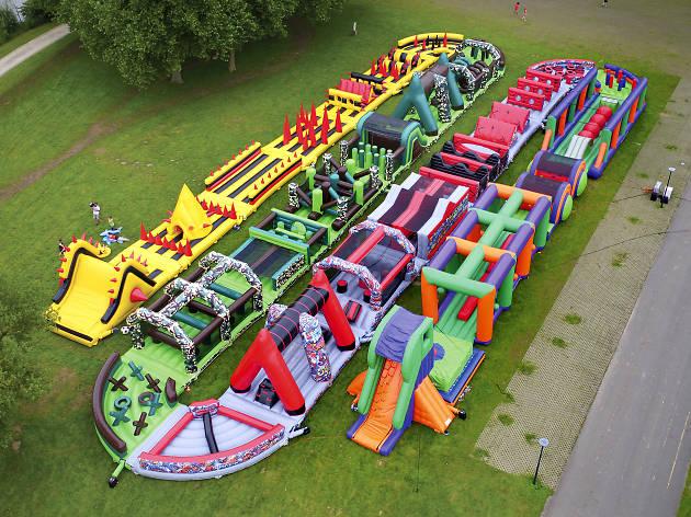 The Beast bouncy castle at Monstrous festival