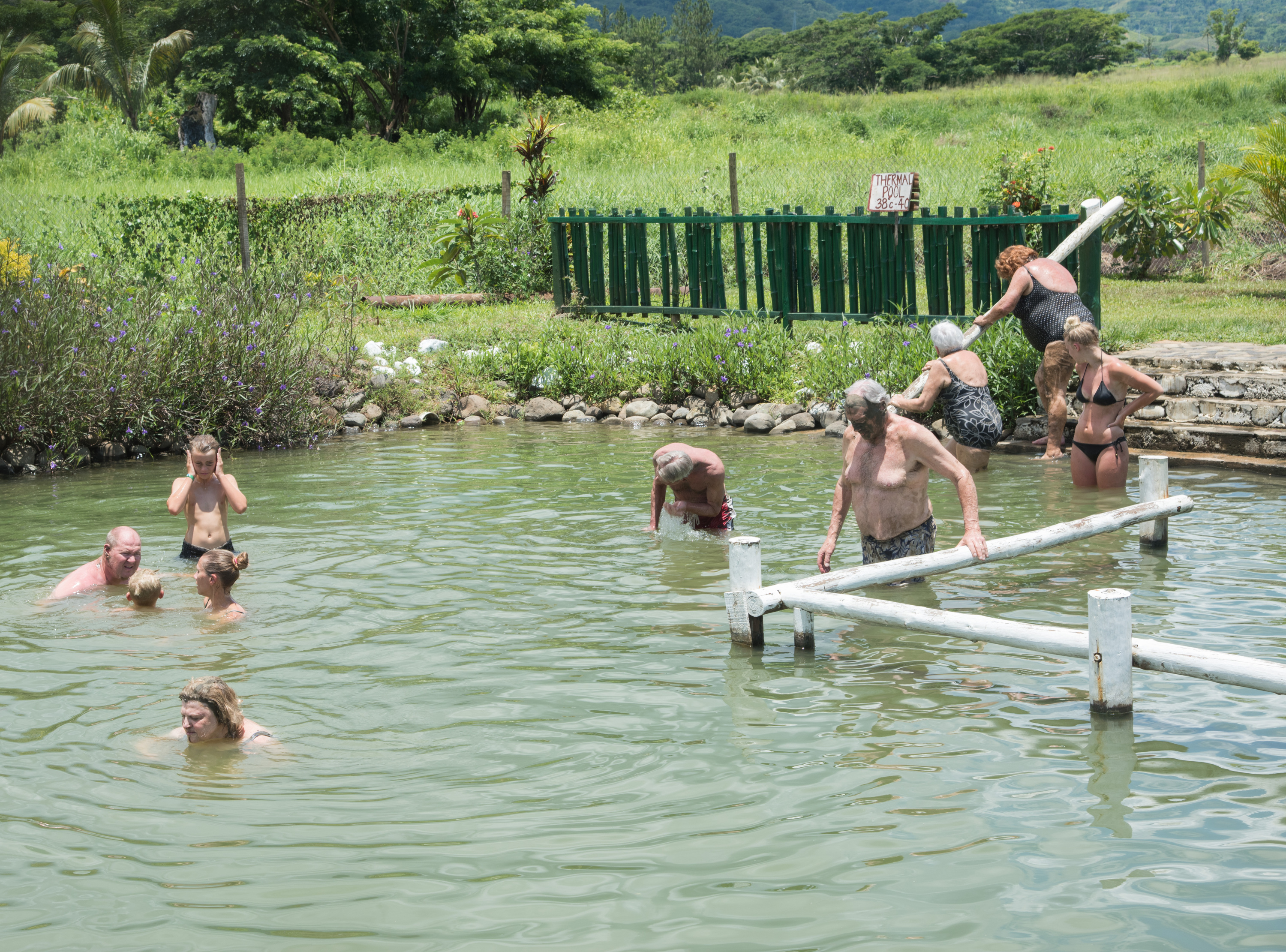 Sabeto Hot Springs and mud pool, eitw