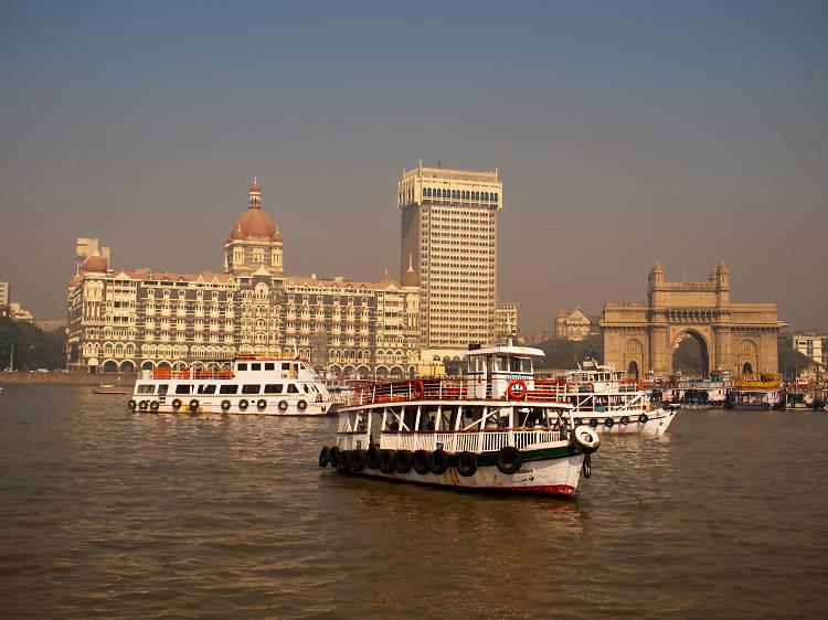 Sailing near the Gateway of India