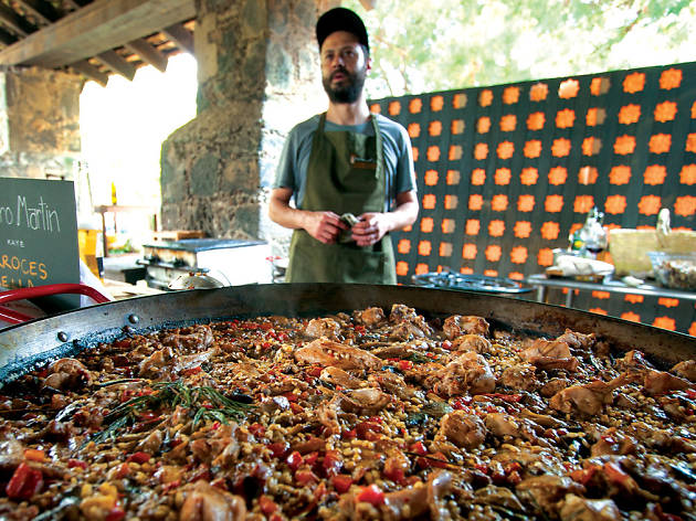 Chef Pedro Martín en Festival de Hongos Silvestres