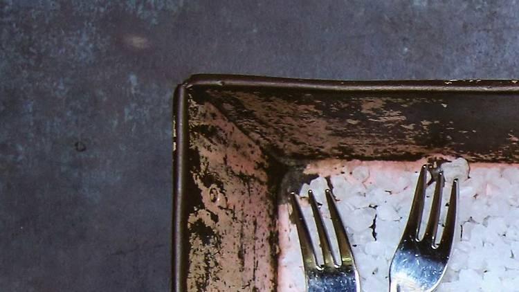 Morrison Oyster Festival tray of oysters in rock salt
