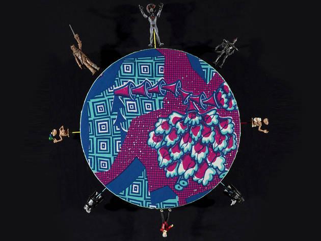 (Yinka Shonibare, 'Alien toy painting' 2011 (detail), © Yinka Shonibare, MBE, Photograph: Diana Panuccio, AGNSW)