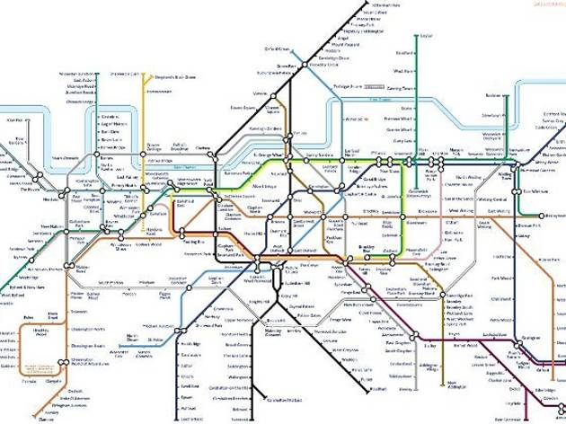 South London Areas Map.The South London Biased Tube Map