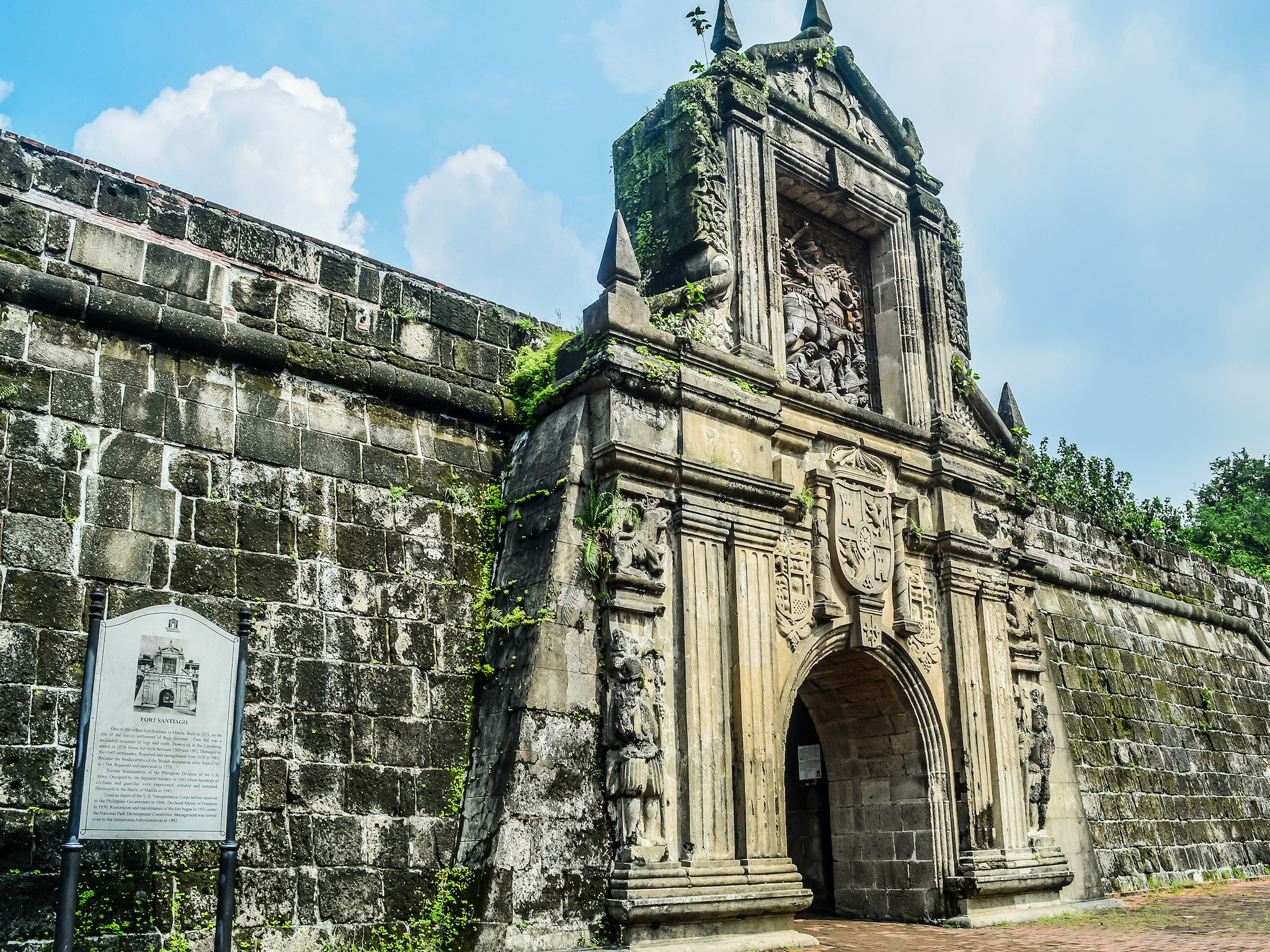 The walled city of Intramuros